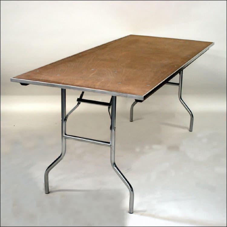 ($10) 6FT Wood Children's Table