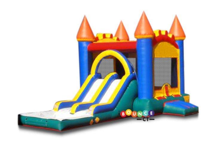 $310 Full Day Rental Wet Use Dual Slide Castle Combo